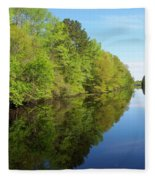 Dismal Swamp Canal In Spring Fleece Blanket