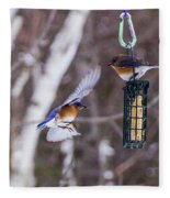 Docking Bluebird Fleece Blanket