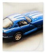 Dodge Viper Gts Fleece Blanket