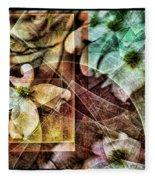 Dogwood Abstract Fleece Blanket