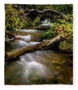 Dogwoods Along The Provo Deer Creek Fleece Blanket