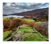Dolbadarn Castle View Fleece Blanket