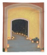 Doorway To The Festival Of Lights Fleece Blanket