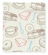 Doughnut_wallpaper_f3 Fleece Blanket