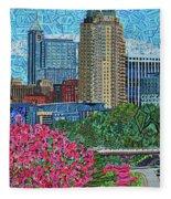 Downtown Raleigh Fleece Blanket