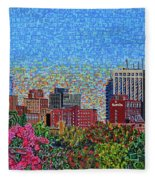 Downtown Raleigh - October Sunset Fleece Blanket