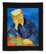 Dr Paul Gachet - Digital Remastered Edition Fleece Blanket
