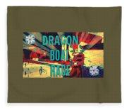 Dragon Boat Race Fleece Blanket