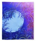 Dream By The Tropical Moon Fleece Blanket