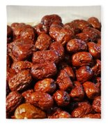 Dried Chinese Red Dates Fleece Blanket