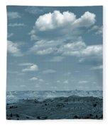 Drifting Clouds And Shifting Shadows Fleece Blanket