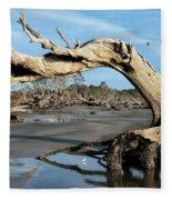 Driftwood Beach Fleece Blanket