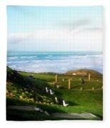 Droskyn Sundial Perranporth Fleece Blanket
