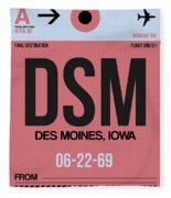 Dsm Des Moines Luggage Tag I Fleece Blanket