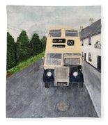 Dublin Bus Painting Fleece Blanket