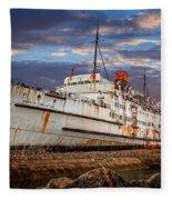 Duke Of Lancaster Ship Fleece Blanket
