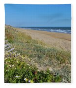 Dunes Wooden Fence Fleece Blanket