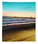 Dusk On The Strand Fleece Blanket
