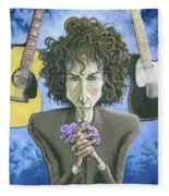 Dusky Resolution - Bob Dylan Fleece Blanket