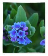 Dwarf Bluebell Detail Fleece Blanket