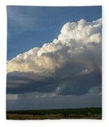 Dying Thunderstorms At Sunset 006 Fleece Blanket