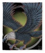 Eagle Illustration  Fleece Blanket