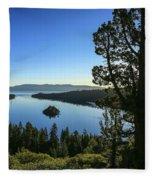 Early Morning Emerald Bay Fleece Blanket