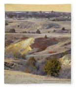 Early Spring Prairie Reverie Fleece Blanket