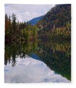 Echo Lake Early Autumn Reflection Fleece Blanket