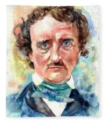 Edgar Allan Poe Portrait Fleece Blanket