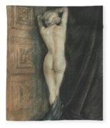 Edouard Chimot Nude In Boudoir  Fleece Blanket