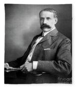 Edward Elgar Studio Portrait Fleece Blanket