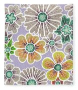 Efflorescent 11 V2 Fleece Blanket by Amy E Fraser