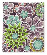 Efflorescent 12 V2 Fleece Blanket by Amy E Fraser