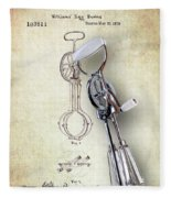 Eggbeater With Antique Eggbeater Patent Fleece Blanket