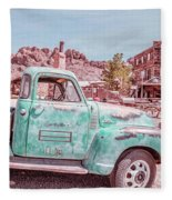 Eldorado Ghost Town Searchlight Nevada Pano Fleece Blanket