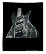 Electric Guitar Musician Player Metal Rock Music Lead Black Fleece Blanket