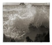 Elegant Coastal Splash Bermuda Fleece Blanket