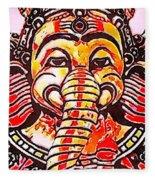 Elephant Face Fleece Blanket