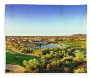 Elevated View Of Golf Course, Sun City Fleece Blanket