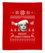 Elon Musk Merry Christmusk Fleece Blanket
