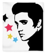 Elvis Presley 4 Fleece Blanket