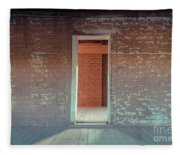 Empty Old Brick House Grafton Ghost Town Fleece Blanket