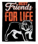English Bulldog Best Friends For Life Fleece Blanket
