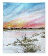 Ephemeral Sunset Fleece Blanket