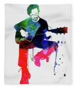 Eric Clapton Watercolor Fleece Blanket