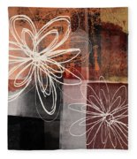 Espresso Flower 2- Art By Linda Woods Fleece Blanket