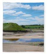 estuary on river Aln at Alnmouth Fleece Blanket