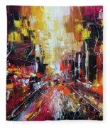 Evening Avenue Fleece Blanket