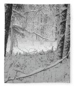Evening Snow Fleece Blanket